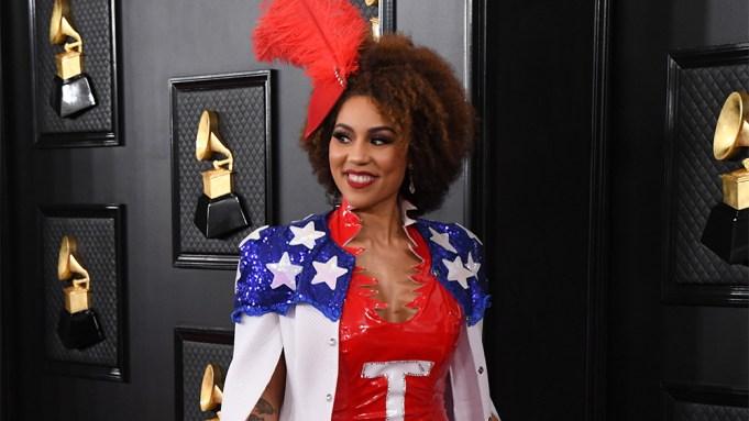 Joy Villa Trump Dress Grammys 2020