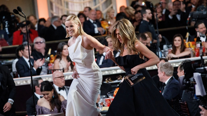Reese Witherspoon Jennifer Aniston Golden Globes