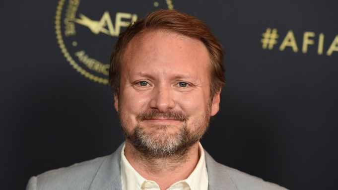Rian Johnson arrives at the 2020