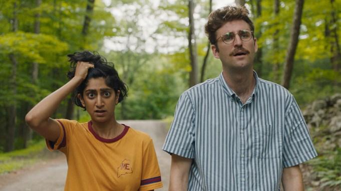 Sunita Mani and John Reynolds appear