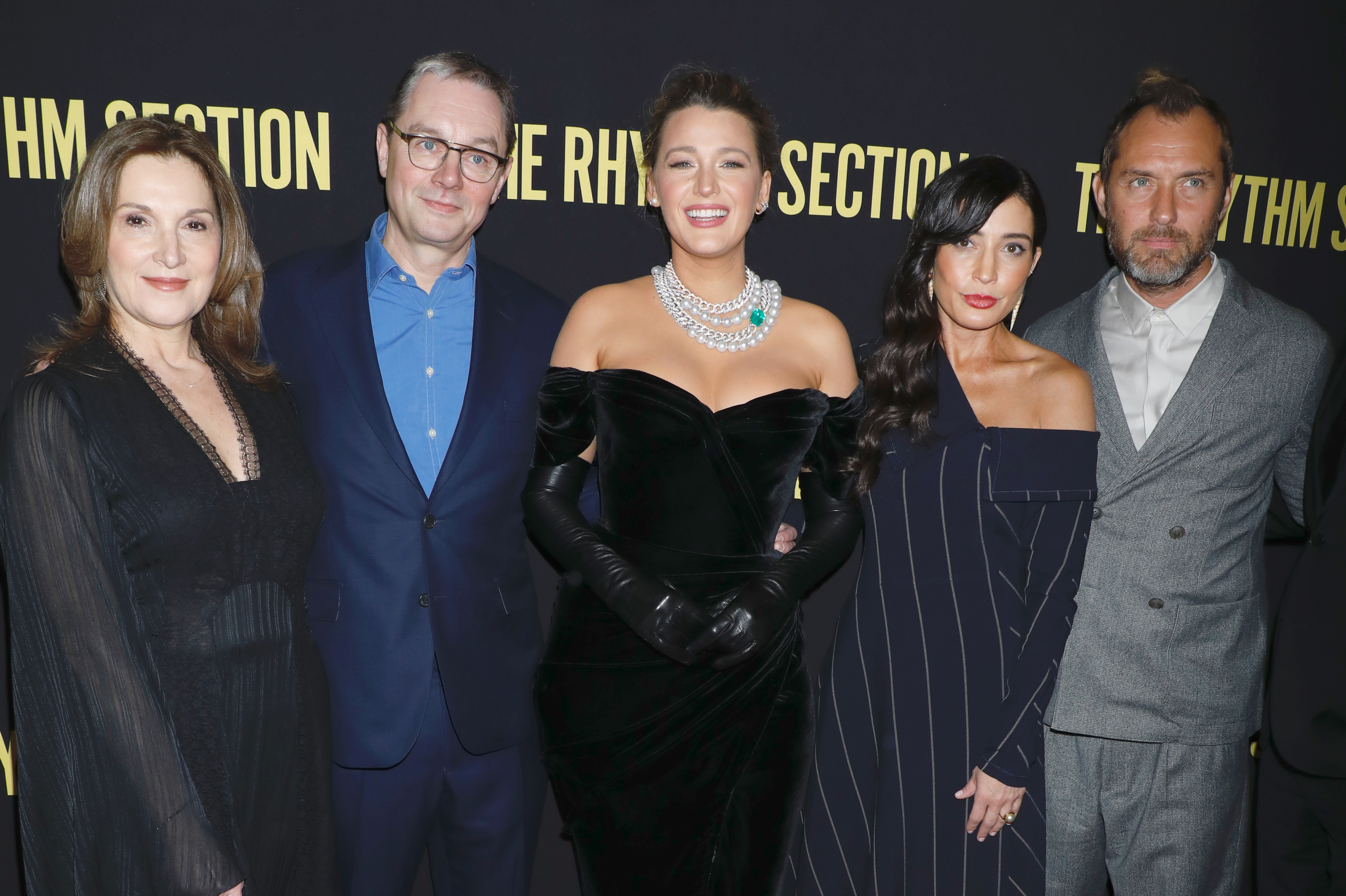 Barbara Broccoli, Mark Burnell, Blake Lively, Reed Morano and Jude Law'The Rhythm Section' film premiere, Arrivals, Brooklyn Academy of Music, New York, USA - 27 Jan 2020