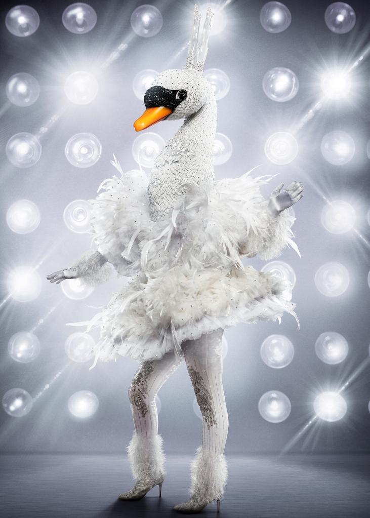 THE MASKED SINGER: The Swan. CR: Michael Becker / FOX. © 2020 FOX MEDIA LLC.