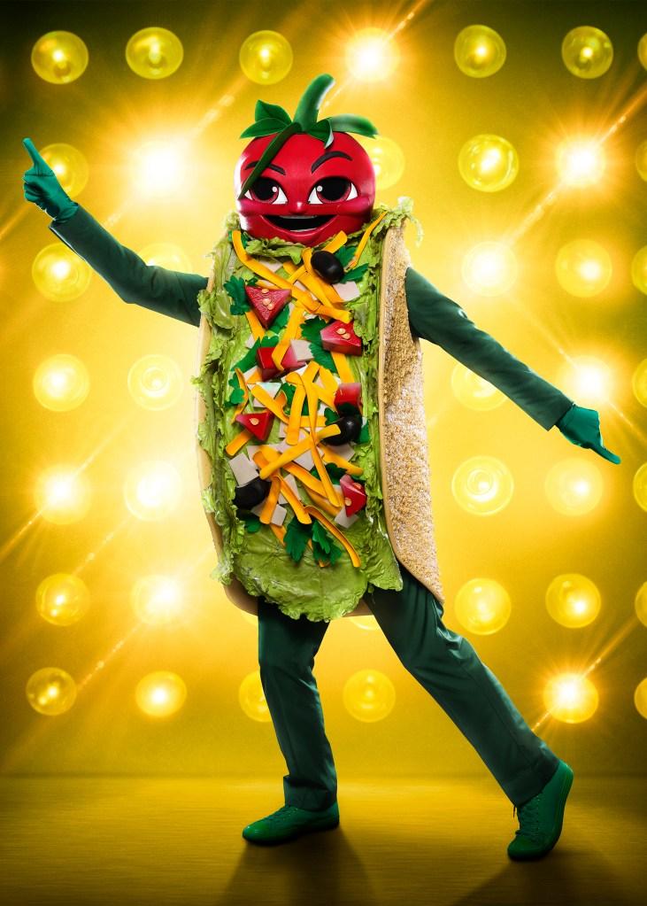 THE MASKED SINGER: The Taco. CR: Michael Becker / FOX. © 2020 FOX MEDIA LLC.