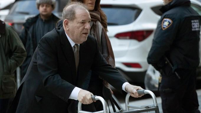 Harvey Weinstein arrives at court for