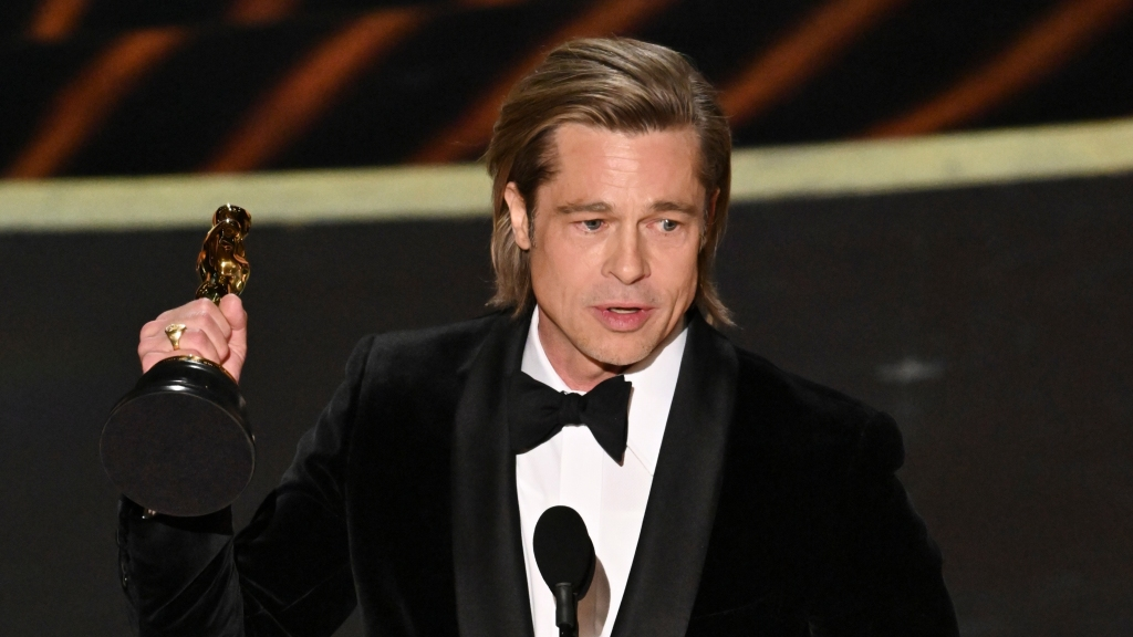 Brad Pitt Slams GOP, Trump Impeachment Trial at the Oscars