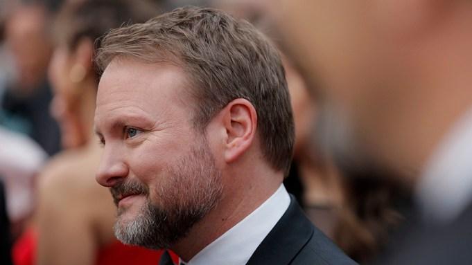 Rian Johnson arrives at the Oscars,