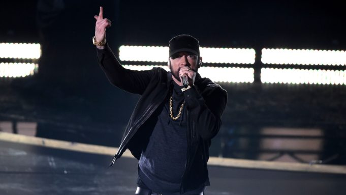 """Eminem performs """"Lose Yourself"""" at the"""