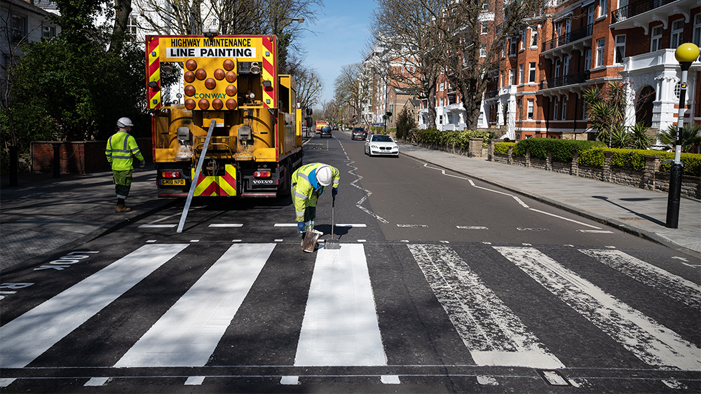 Beatles Abbey Road Crossing Gets Painted Thanks To Empty Streets Variety