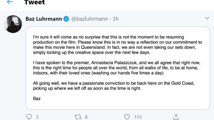 Baz Luhrmann on Twitter