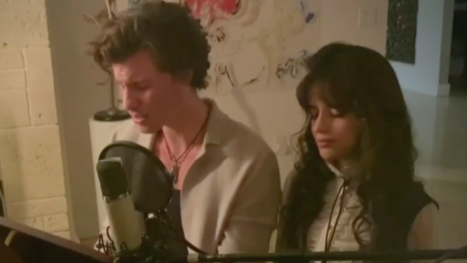 Shawn Mendes and Camila Cabello Sing