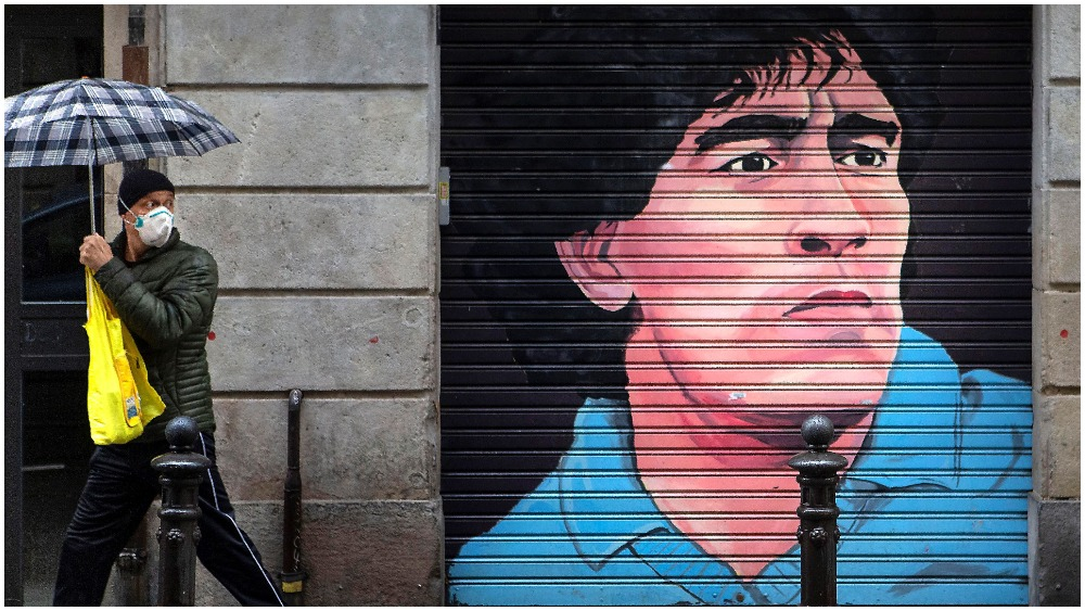 Spain coronavirus Maradona