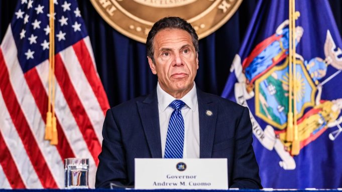 New York Governor Andrew Cuomo attends