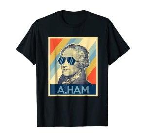 Hamilton T-shirt Wearing Sunglasses