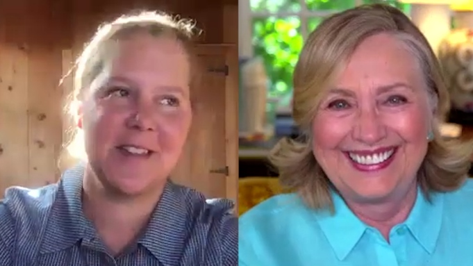 Hillary Clinton and Amy Schumer