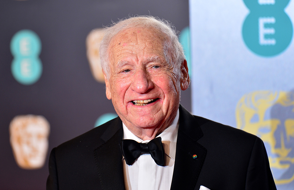 """""""Behind me you see my son and my grandson. They can't be with me. Why? Because of this coronavirus, and Donald Trump's not doing a damn thing about it,"""" Mel Brooks says in a video endorsing Joe Biden"""