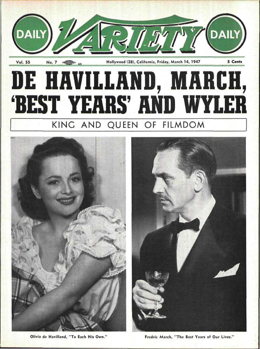 Olivia de Havilland Variety 1947