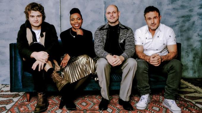 Joe Keery, Sasheer Zamata with Eugene