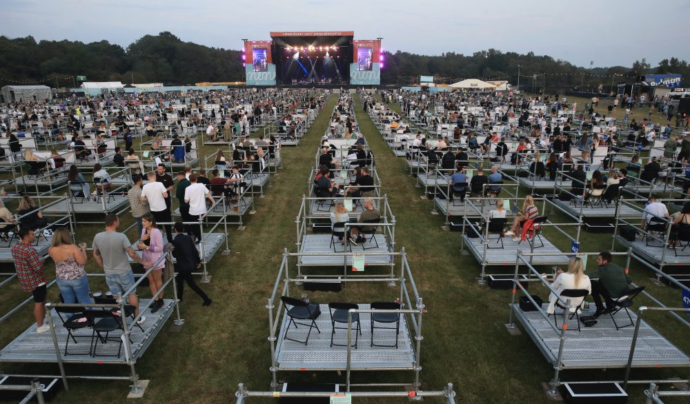 U.K. Opens First Socially Distanced Venue, With 500 Viewing Platforms - Variety