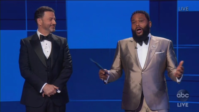 Anthony Anderson Jimmy Kimmel Emmys