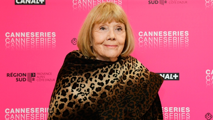 Diana Rigg attends a masterclas during the 2nd Canneseries International Series Festival on April 06, 2019 in Cannes, France. (Sipa via AP Images)