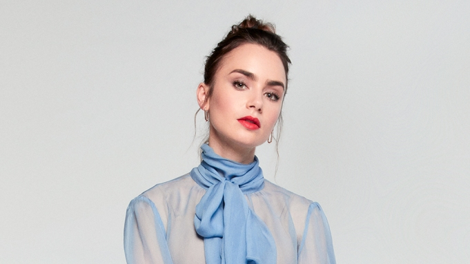 Lily Collins photographed at the Variety