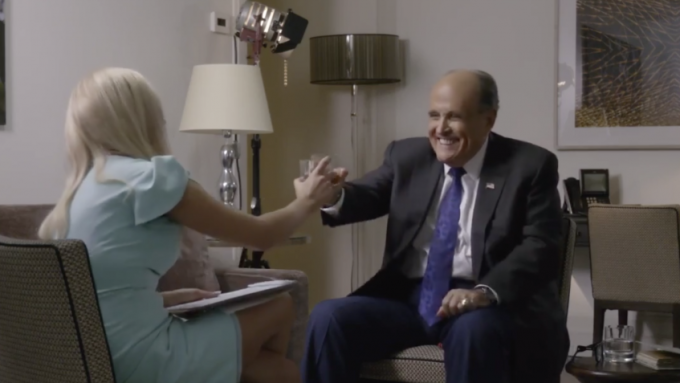 Rudy Giuliani in 'Borat 2' Faces