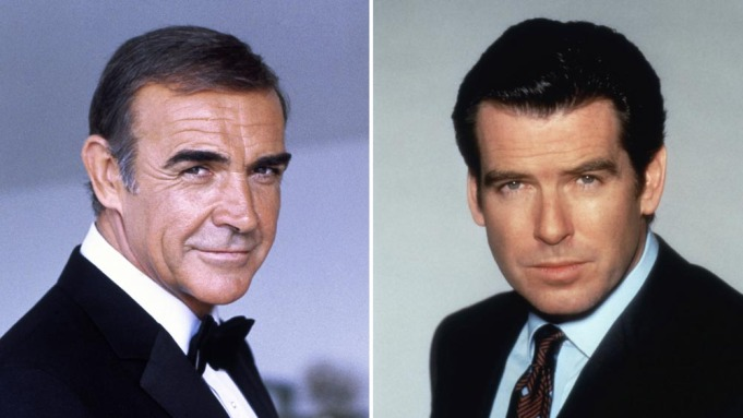 Sean Connery and Pierce Brosnan
