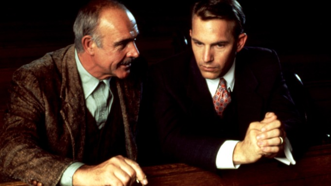 THE UNTOUCHABLES, Sean Connery, Kevin Costner,