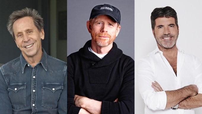 Brian Grazer, Ron Howard, Simon Cowell