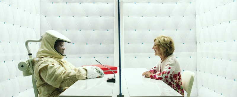 THE SIGNAL, l-r: Laurence Fishburne, Lin Shaye, 2014. ©Focus Features/courtesy Everett Collection