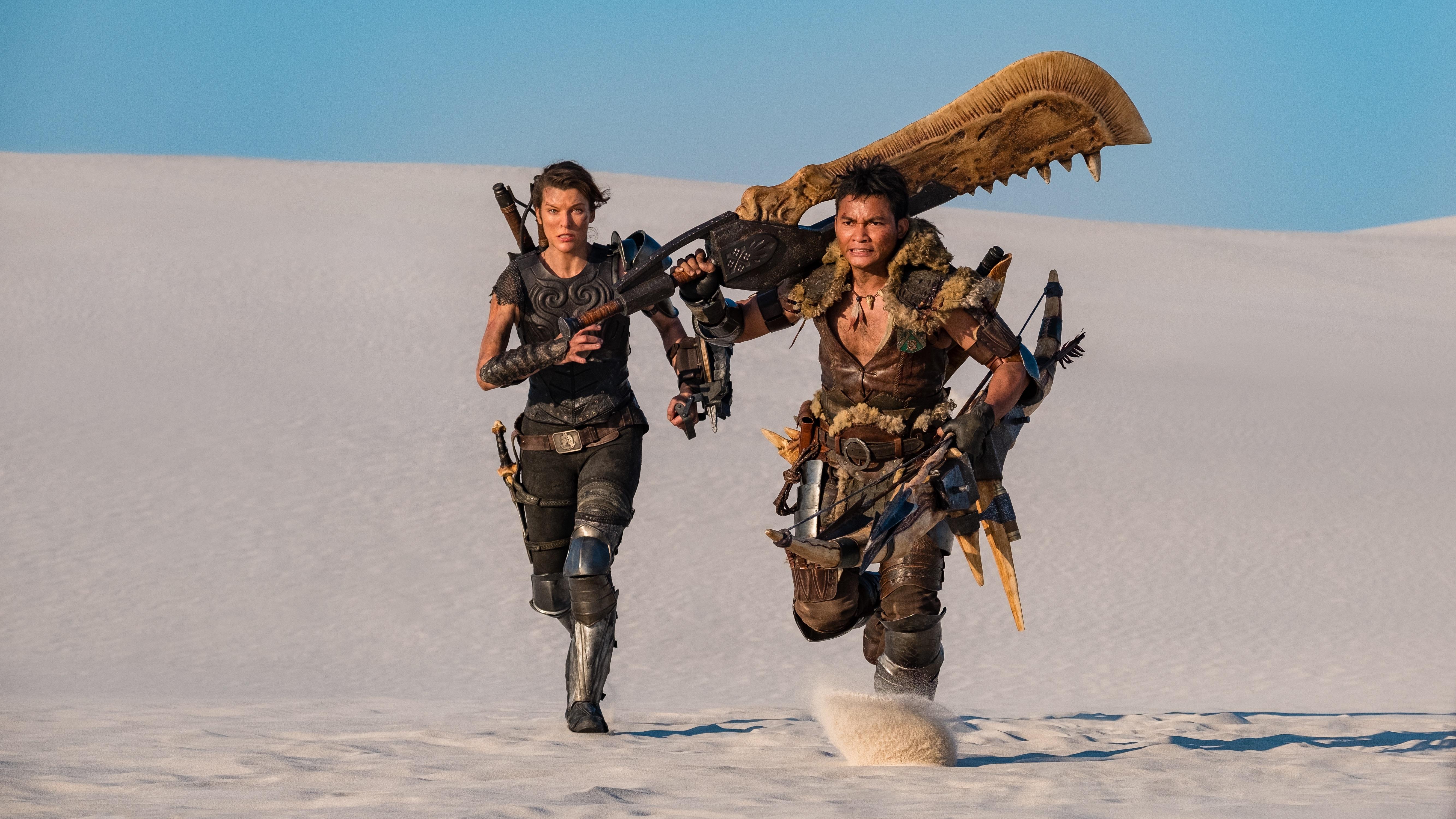 Monster Hunter Review Milla Jovovich And Tony Jaa Fight Cg Beasties Variety