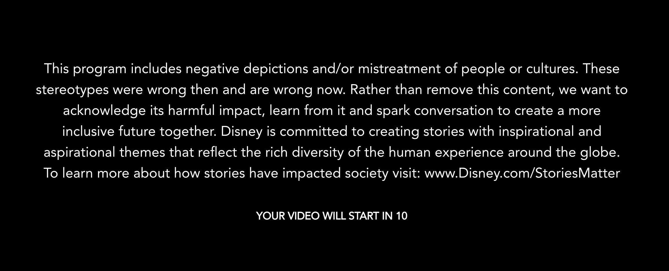 Disney Plus warning