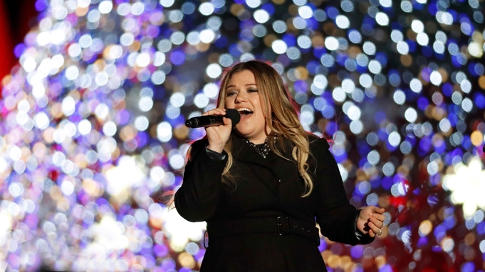 Singer Kelly Clarkson performs during the