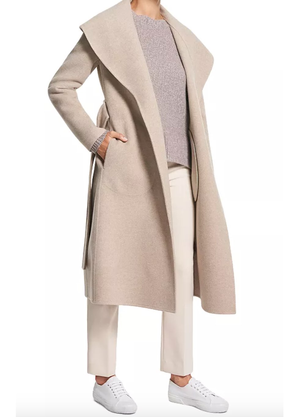 Theory Shawl Collar Wool & Cashmere Coat