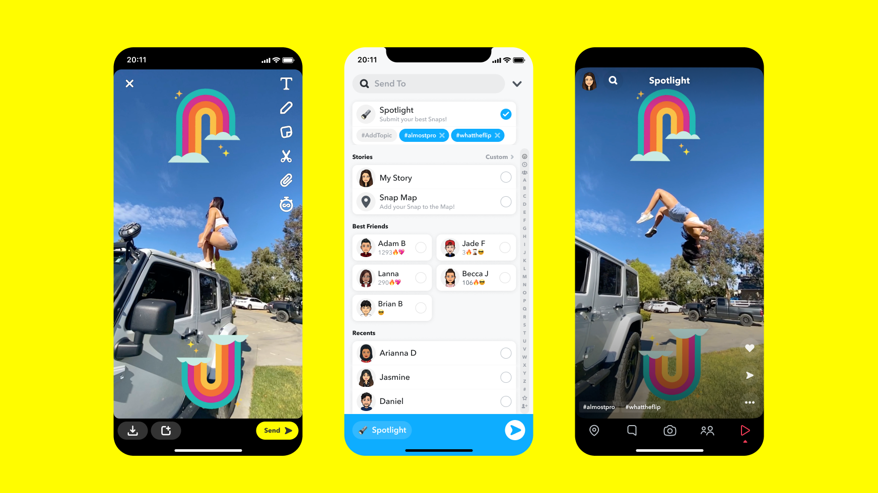 Snapchat Spotlight: Content Creators Can Get Share of $1M Daily Pool -  Variety