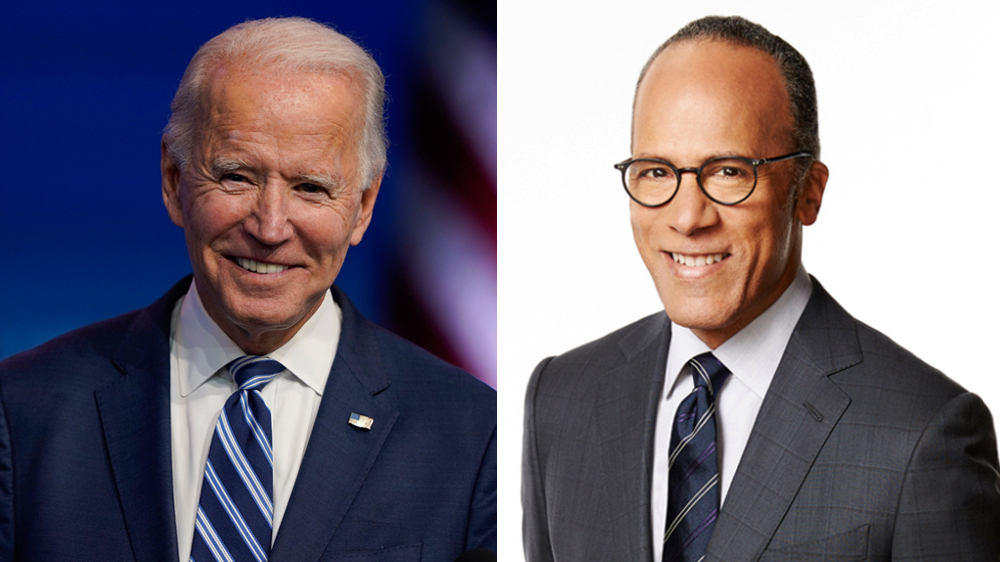 Joe Biden to Join Lester Holt on 'NBC Nightly News' for First Interview Since Election Victory