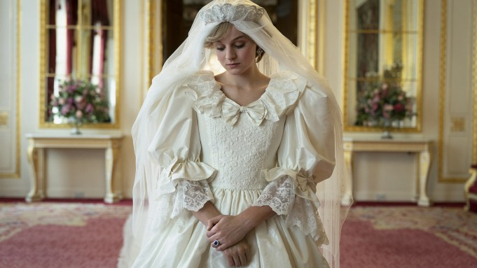 Emma Corrin as Princess Diana in