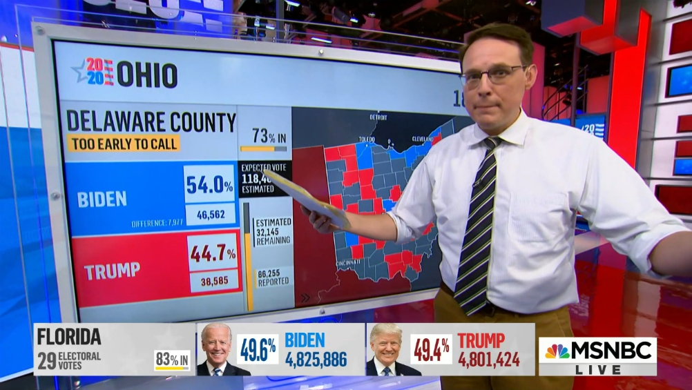 Steve Kornacki Jumps From MSNBC's Big Board to NBCU's Biggest Game - Variety