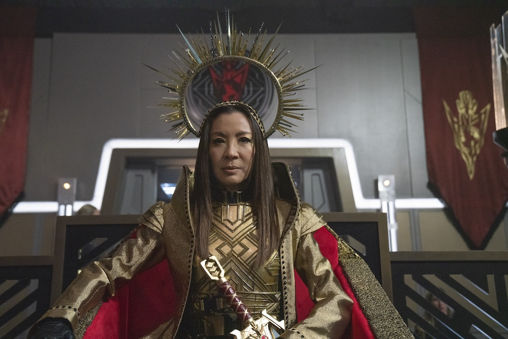 Michelle Yeoh as Emperor Georgiou from Star Trek Discovery