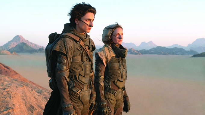 DUNE, from left: from left: Timothee Chalamet, Rebecca Ferguson, 2020. ph: Chiabella James / © Warner Bros. / Courtesy Everett Collection