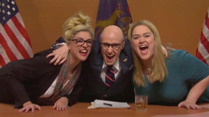 From left: Cecily Strong, Kate McKinnon