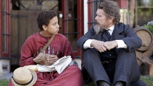 """(L-R): Joshua Caleb Johnson as Onion and Ethan Hawke as John Brown in THE GOOD LORD BIRD, """"Smells Like Bear"""". Photo Credit: William Gray/SHOWTIME."""