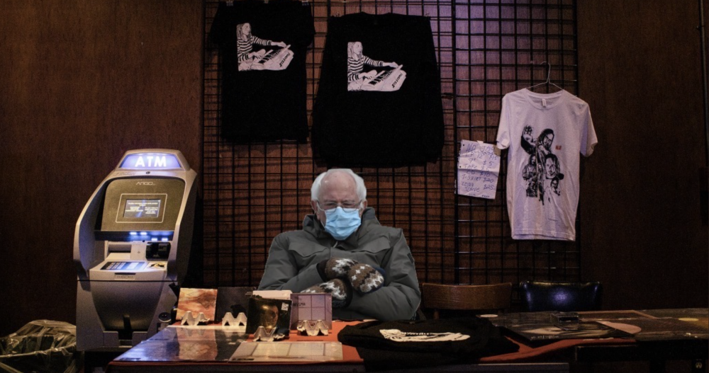 Memes of Bernie Sanders as 'Long-Suffering Guy at the Rock Club' Are the Happiest Bernie Memes of All