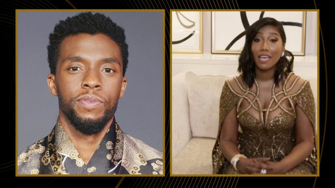 Chadwick Boseman's Wife, Simone Ledward Boseman, Accepts His Posthumous Golden Globe Award