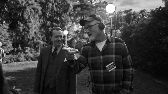 MankGary Oldman and Director David Fincher