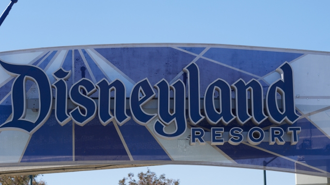 A view outside Disneyland Resort in