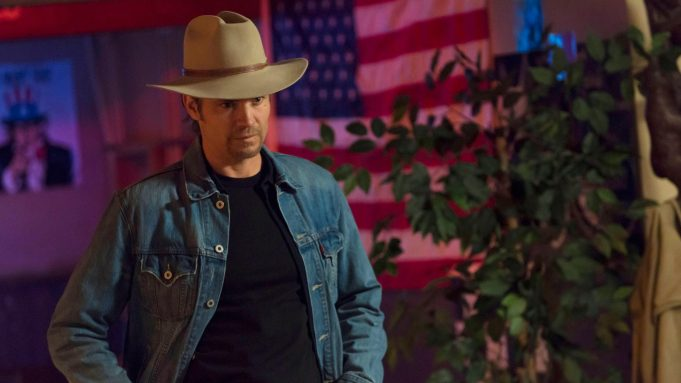 JUSTIFIED, Timothy Olyphant, in 'Ghosts' (Season 4, Episode 13, aired April 2, 2013), 2010-, ph: Prashant Gupta/©FX/courtesy Everett Collection