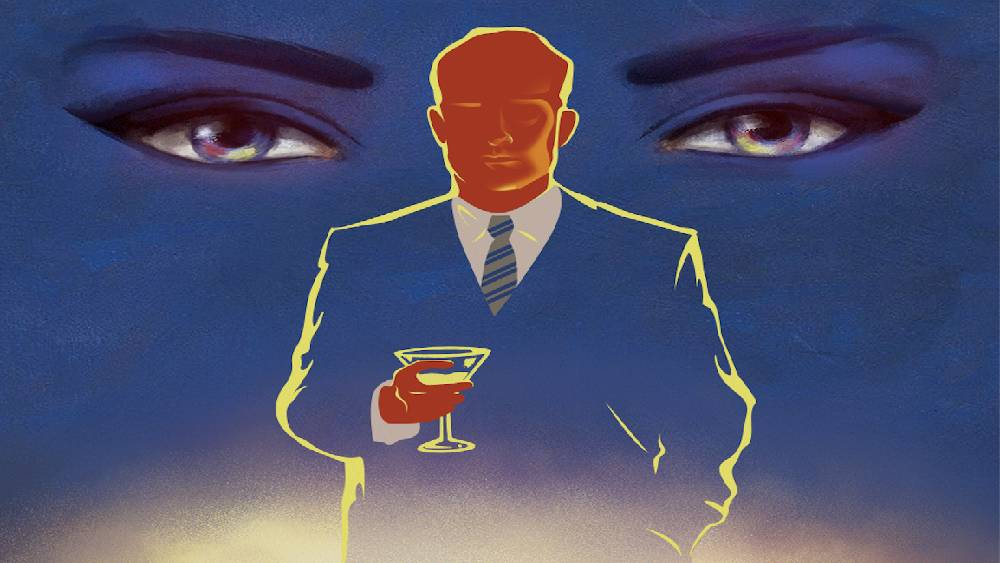 art print inspired by The Great Gatsby Cocktail Party