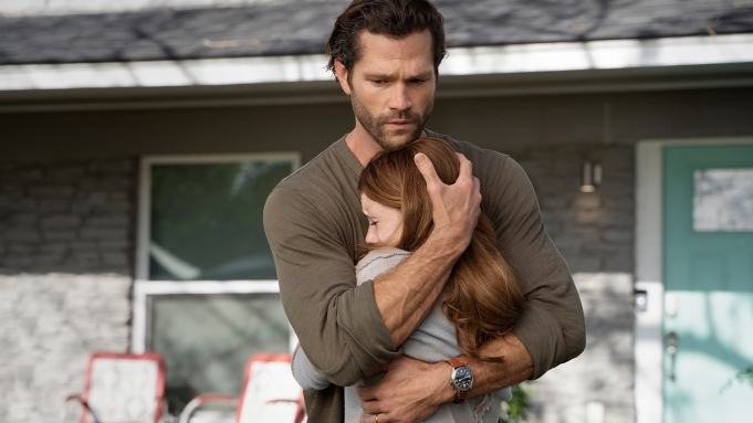 """Walker -- """"Back in the Saddle"""" -- Image Number: XWLK102b_0229r -- Pictured (L-R): Jared Padalecki as Cordell Walker and Violet Brinson as Stella Walker -- Photo: Rebecca Brenneman/The CW -- © 2021 The CW Network, LLC. All Rights Reserved."""