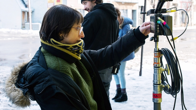 NEVER RARELY SOMETIMES ALWAYS, director Eliza Hittman, on-set, 2020. ph: Angal Field / © Focus Features / courtesy Everett Collection